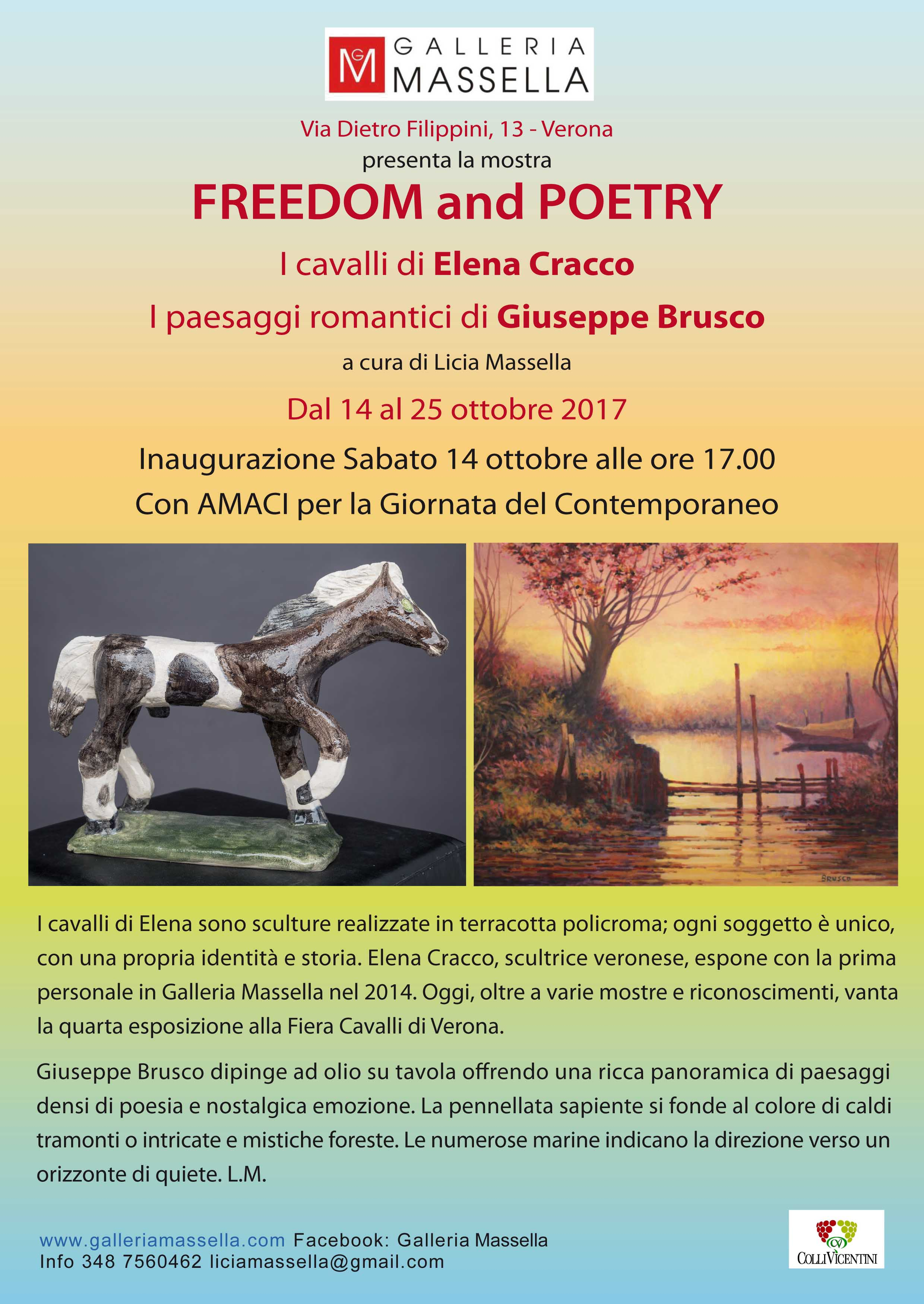 14 ottobre h 17.00 FREEDOM and POETRY