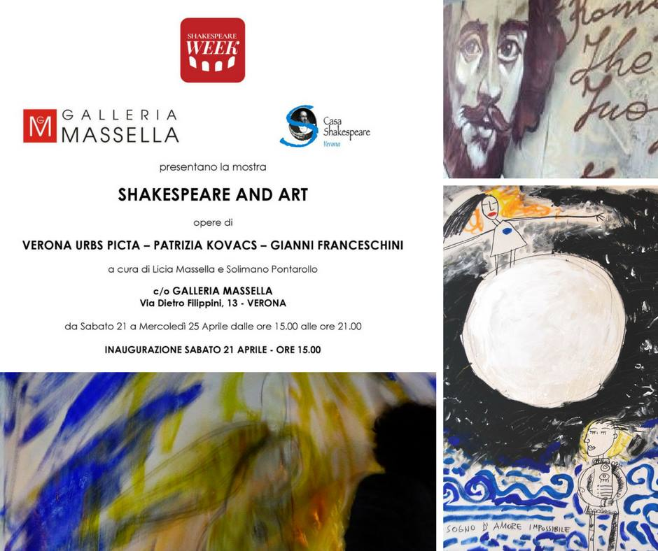 SHAKESPEARE AND ART Sabato 21 aprile ore 15 in GALLERIA MASSELLA